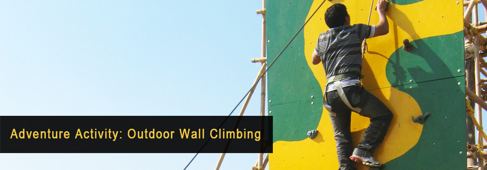 Adventure Activity - Outdoor Wall Climbing